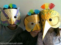 À l'école : Des masques oiseaux chez les 3/6 ans