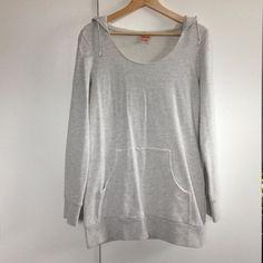 Target oversized sweatshirt Light grey oversized, extra long, wide scoop, hooded sweatshirt. Mossimo Supply Co. Sweaters Crew & Scoop Necks