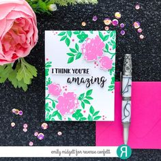 Card by Emily Midgett. Reverse Confetti stamps: Something Wonderful, Kindness Cards. Confetti Cuts dies: Something Wonderful, Kindness Cards. Mother's Day card