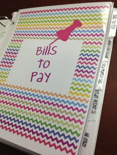 Organized Bill Planner with FREE printables!!