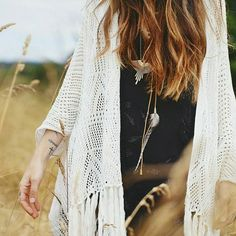 Love this dreamy pic of the gorgeous @featherandskull in her @bijou_the_label Stardust Crochet Kimono  http://ift.tt/1GqdATg