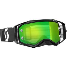 Scott Prospect Black/Green Chrome Goggles