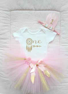 Beautiful Pink Gold Tribal Princess Tutu by AverysCoutureLook