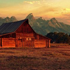 Jeff Clow's amazing photo of a 1910 barn in Jackson Hole, WY.