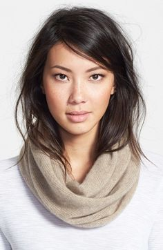 Halogen® Halogen 'Touch of Sparkle' Cashmere Infinity Scarf