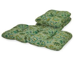 Aqua Hosta Mist Outdoor Settee & Chair Cushions, 3-Piece Set at Big Lots.
