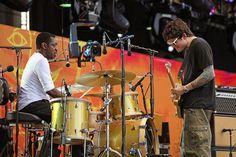 steve jordan drummer | Crossroads 2010 Pictures - John Mayer and Steve Jordan | Rolling Stone