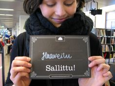 Kirjastossa haaveilu sallittu!  Dreaming in a library is allowed ;)