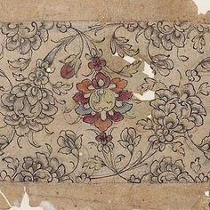 Drawing for textile design, India, 19th century...