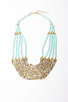 Mint Multi Strand Necklace