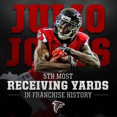 With 115 yards so far today, Julio has over yards already this year! Atlanta Falcons Rise Up, Atlanta Falcons Shirts, Falcons Football, Football Players, Falcon Logo, Football Pictures, Velvet Cake, Red Velvet, Nfc South