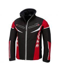 Hyra, St Moritz tech ski jacket, men, black-red