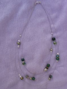 collana perfetta per l'estate!!!!...con perle di agata verde e swarovski...