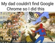 Best Funny Pictures, Funny Images, Google Chrome, Computer Technology, My Dad, Funny People, Popular Memes, Dankest Memes, I Laughed
