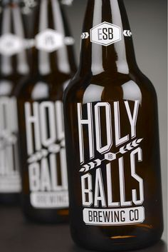 Holy Balls Brewing Co. designed by Kate Mikutowski, University of Wisconsin.
