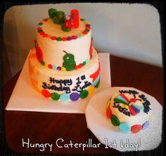 Hungry caterpillar cake  www.TwentyOneCakes.com