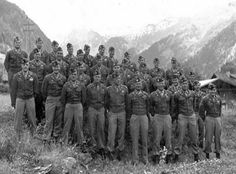 """northandinthemiddle: """" Easy Company in Kaprun Austria, 1945 """" Winters is in the first row, 3rd to the end on the right :)"""