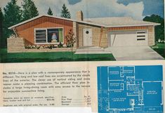 "https://flic.kr/p/72SdVg | Garlinghouse Plan No. 8210 | From the catalog ""Ranch and Suburban Homes"" by Garlinghouse, printed in the 50's or very early 60's."