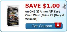 New Coupon!  Save $1.00 on ONE (1) Armor All® Easy Clean Wash & Shine Kit (Only at Walmart) - http://www.stacyssavings.com/new-coupon-save-1-00-on-one-1-armor-all-easy-clean-wash-shine-kit-only-at-walmart/