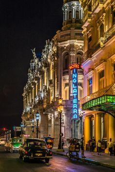 Alicia Alonso theatre and Hotel Inglaterra, Havana, Cuba