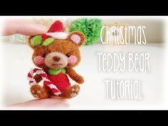 DIY Needlefelt Christmas Bear Mini Plushie Tutorial