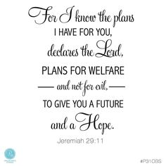 For I know the plans I have for you, to give you a future and hope. Jeremiah 29:11 #P31OBS Real HOPE for real life!