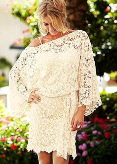 Belted lace dress from VENUS