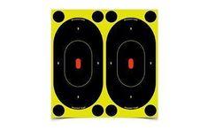 Birchwood Casey Shoot-N-C Target, Oval Silhouette, 7 inch, 12 Targets