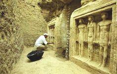 Patio de la tumba de la princesa Shert Nebti . Abusir, Egipto