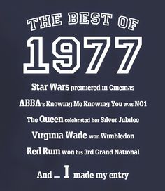 The Best of 1977 - 40th Birthday T Shirt for Women