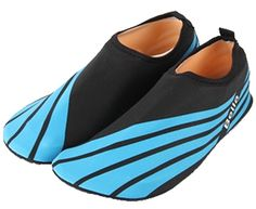Blubi Women's Stripes Cozy Water Shoes Pool Beach Pool Shoes for Yoga, Swimming ** Check this awesome product by going to the link at the image.