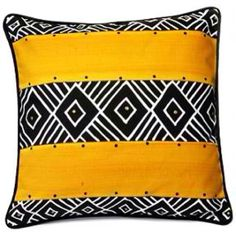 Nonwestern design: This is another great example of nonwestern design. This is a pillow with a South African design. African patterns are very distinct. There aren't many western ideas in design that compare to that of African culture. African Room, African Theme, African Style, African Interior Design, South African Design, African Textiles, African Fabric, African Patterns, African Prints