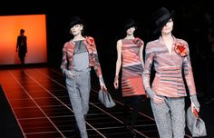 Love the colour palette and patterns in the Giorgio Armani Fall 2012 collection.