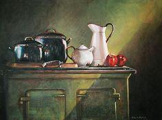 Morning Light by Rika De Klerk Oil ~ x Hyperrealism, Still Life Art, Morning Light, Still Life Photography, Van Gogh, Painting Inspiration, Veronica, Painters, Art Reference