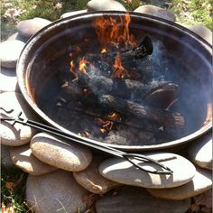 Tractor rim fire pit | gardening and landscaping | Pinterest ...