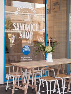 Molenberg Sandwich Shop - Fonts In Use Subway Sandwich, Sandwich Bar, Croissant Sandwich, Sandwich Places, Roast Beef Sandwich, Banh Mi Sandwich, Sandwich Shops, Sandwich Ideas, Sandwich Restaurants
