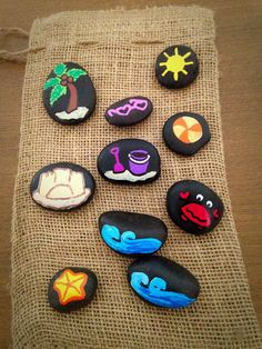 A Day at the Beach Story Stones by starrygirlb on Etsy