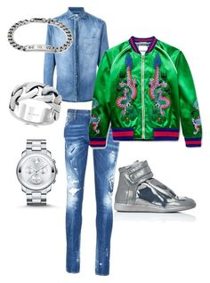 """""""Untitled #53"""" by jabriele on Polyvore featuring Brunello Cucinelli, Dsquared2, Gucci, Maison Margiela, Movado, Effy Jewelry, men's fashion and menswear"""