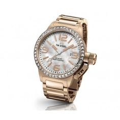TW Steel Ladies Rose Gold Tone 40mm Canteen Watch