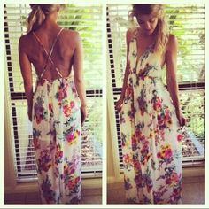 floral maxi dress. I hope I have a toned enough back by summer to pick out a little something like this!