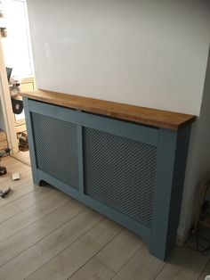 Metal Radiator Covers, Diy Radiator Cover, Painted Radiator, Storage Heater Covers, Painting Radiators, Window Benches, Baseboard, Home Upgrades, Home Projects
