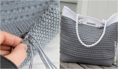 I found today for you a pattern for a practical bag. Stylish, elegant and roomy. Wonderful details give her character. Purse Patterns Free, Crochet Purse Patterns, Bag Pattern Free, Handbag Patterns, Crochet Beach Bags, Crochet Tote, Crochet Handbags, Crochet Purses, Crocheted Bags