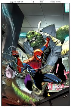 Spider-man City at War #1-6 Complete Cover Checklist Amazing Spiderman, Spiderman Art, Hq Marvel, Marvel Heroes, Marvel Characters, Avengers Comics, Comic Books Art, Comic Art, Book Art