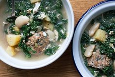 Italian Wedding Soup. Did not use potatoes used noodles