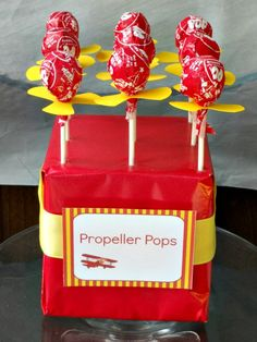 propeller pops favors