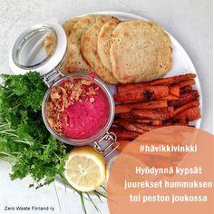 Zero Waste, Finland, Hummus, Pesto, Camembert Cheese, Food, Essen, Meals, Yemek