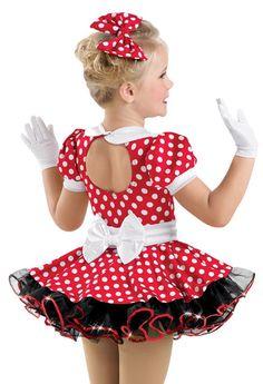 Weissman™   Red White Dotted Puff Sleeve Dress