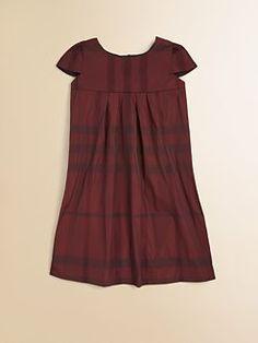Burberry - Little Girl's Check Yolk Dress