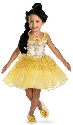 Beauty and the Beast Belle Ballerina Toddler / Child Costume Includes Dress. Does not include Slippers. This is an officially licensed © DISNEY costume. Weight (lbs) 0.77 Length (inches) 14.5 Width (inches) 11.5 Height(inches) 1 Kid's Costumes Yellow Small (4-6X) GIRLS Everyday Female Toddler