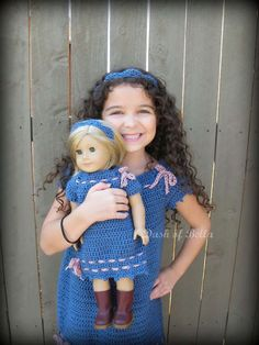 Me and My American Girl matching crochet dress patterns